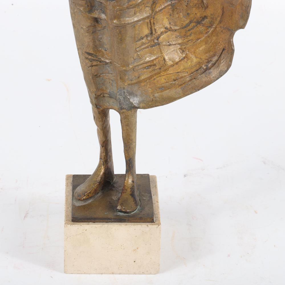 "Milton Hebald, (1917-2015), Untitled, (Barefoot Woman), bronze on stone base, 19"" H x 8""W"