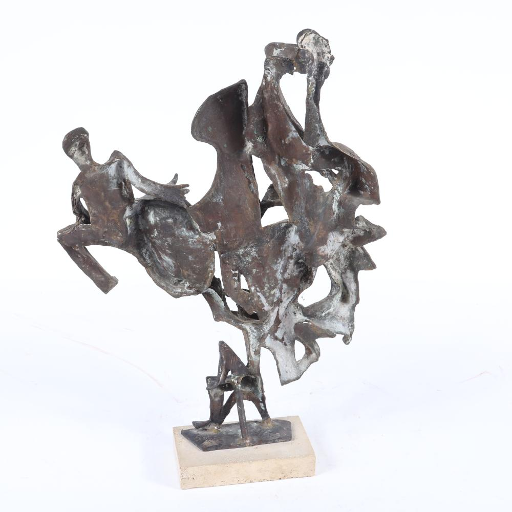 "Milton Hebald, (1917-2015), Jazz Band, bronze musicians group, 23 1/2"" H x 15 1/2"" W"