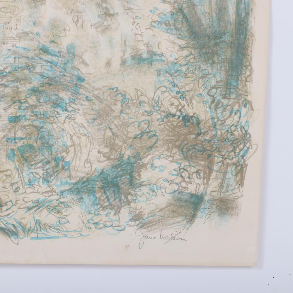 "Jane Wilson, New York 1924-2015, The Song: L'Oreille et le Coeur, lithograph, 22 3/4""H x 25 1/4""W (paper)"