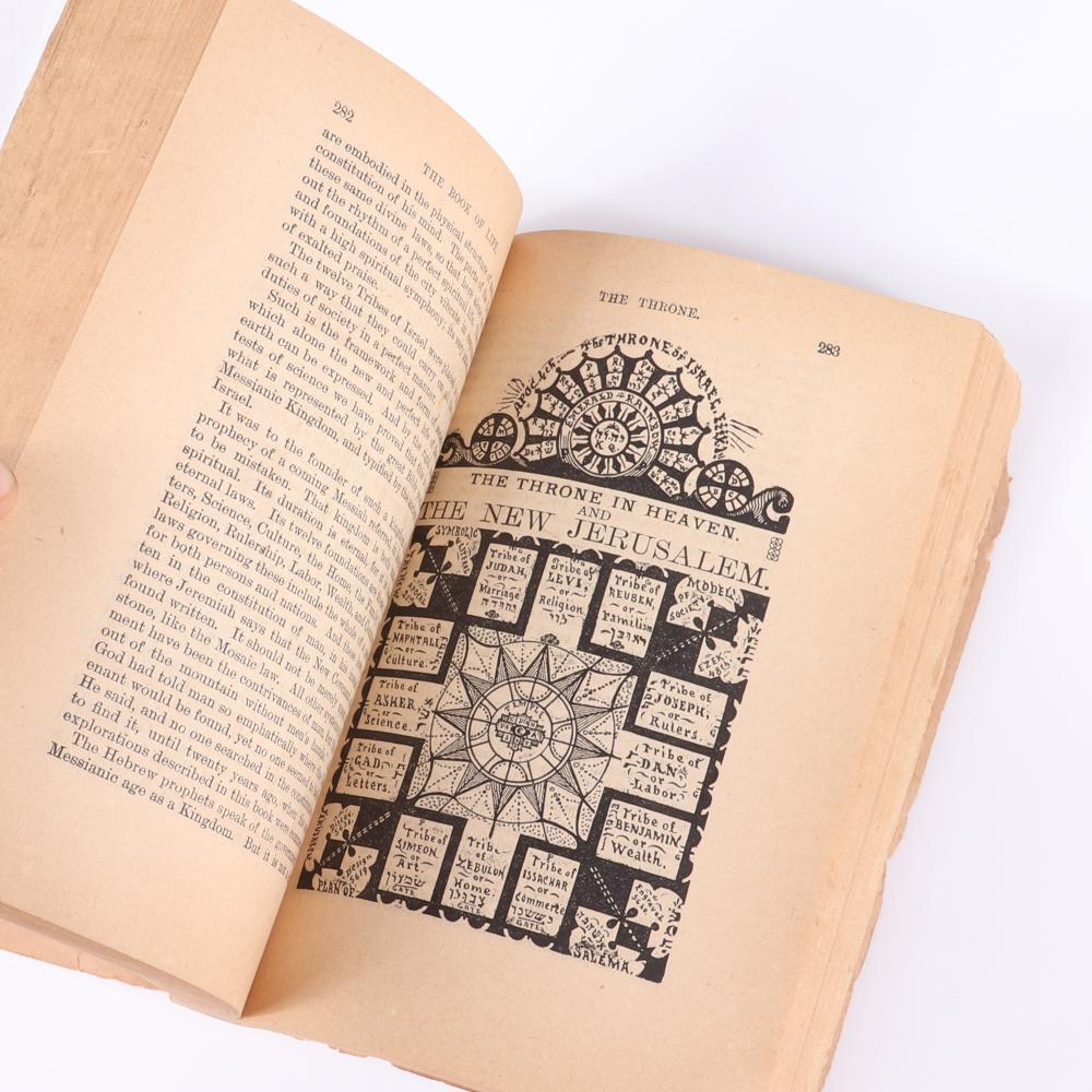 """Metaphysical, Spiritual, Scientific """"The Book of Life, The nature and Destiny of Man by Sivartha, Published by Health and Home Chicago, 1887. 1 1/2""""H x 4 3/4""""W x 6 1/2""""D"""
