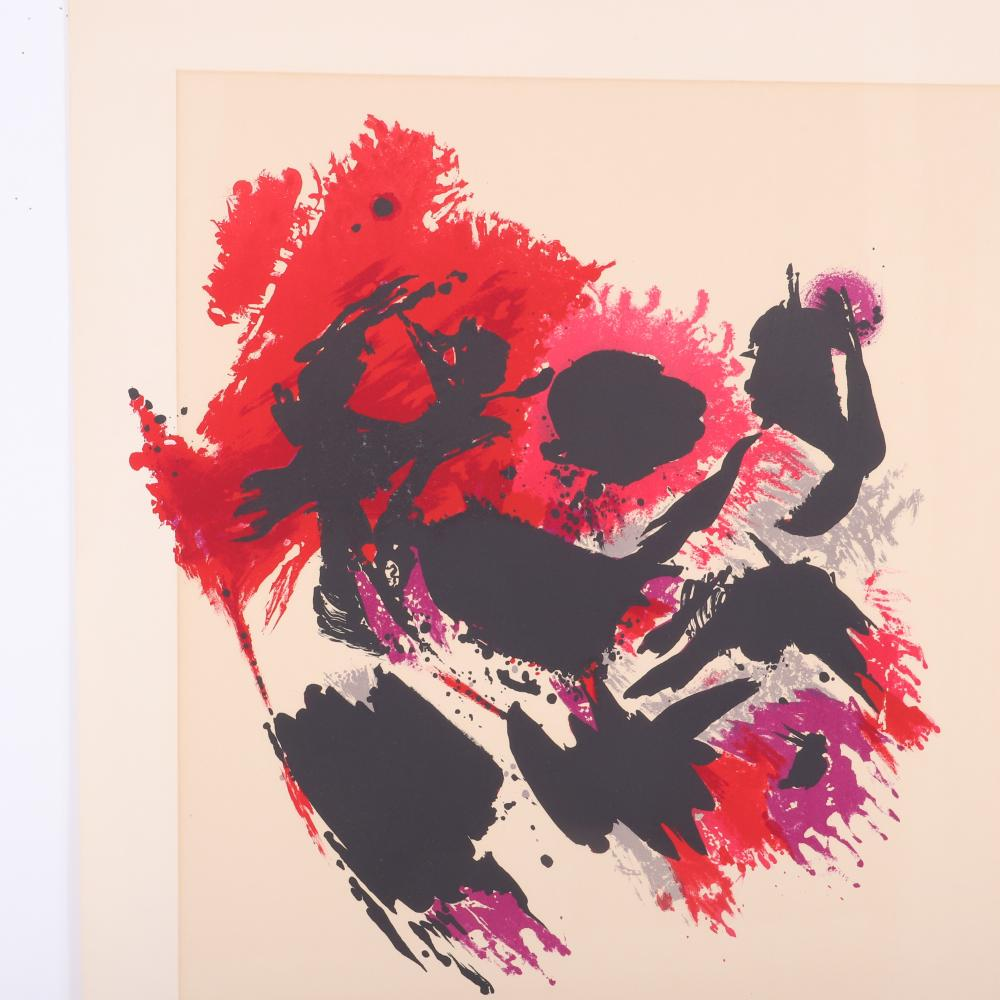"""Alfred Manessier, United States / France 1911-1993, abstract, color lithograph, 25 1/2""""H x 19 1/2"""" (paper)"""