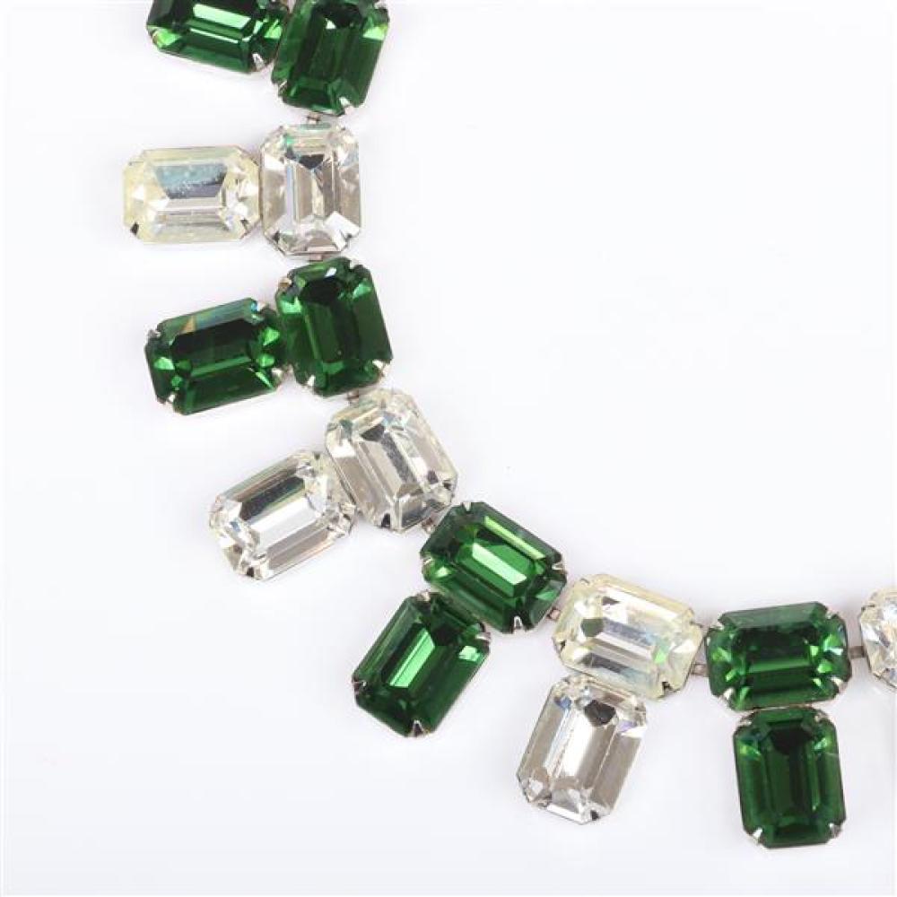 Vintage 1950s statement collar necklace 1 1/4