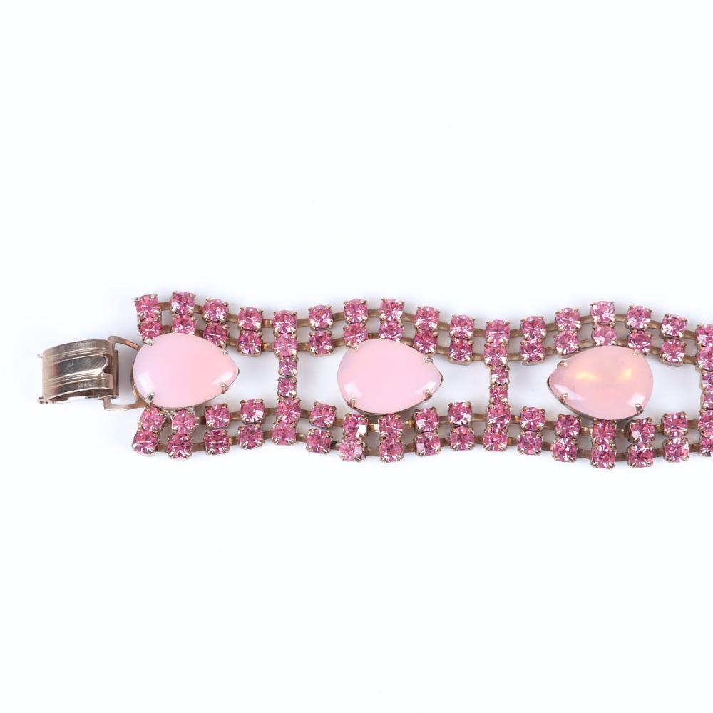 Vintage 3pc pink parure with large 3/4