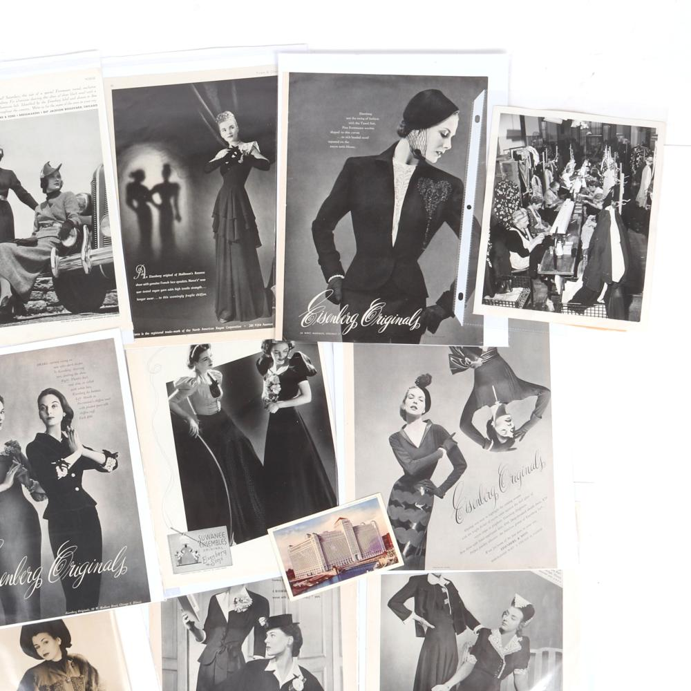 "Eisenberg history through 12 vintage post cards, photographs and 9 original advertisements including Vogue 1937, 1940, 1949, 1942, , and other years from the author's personal collection. 13 1/2"" x 9 1/2"""