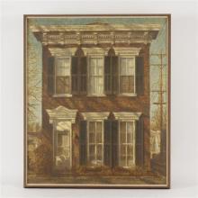 "Harry Allen Davis, (American, 1914-2006), ""315 Poplar St., Madison"", acrylic on canvas, 38"" x 31"""