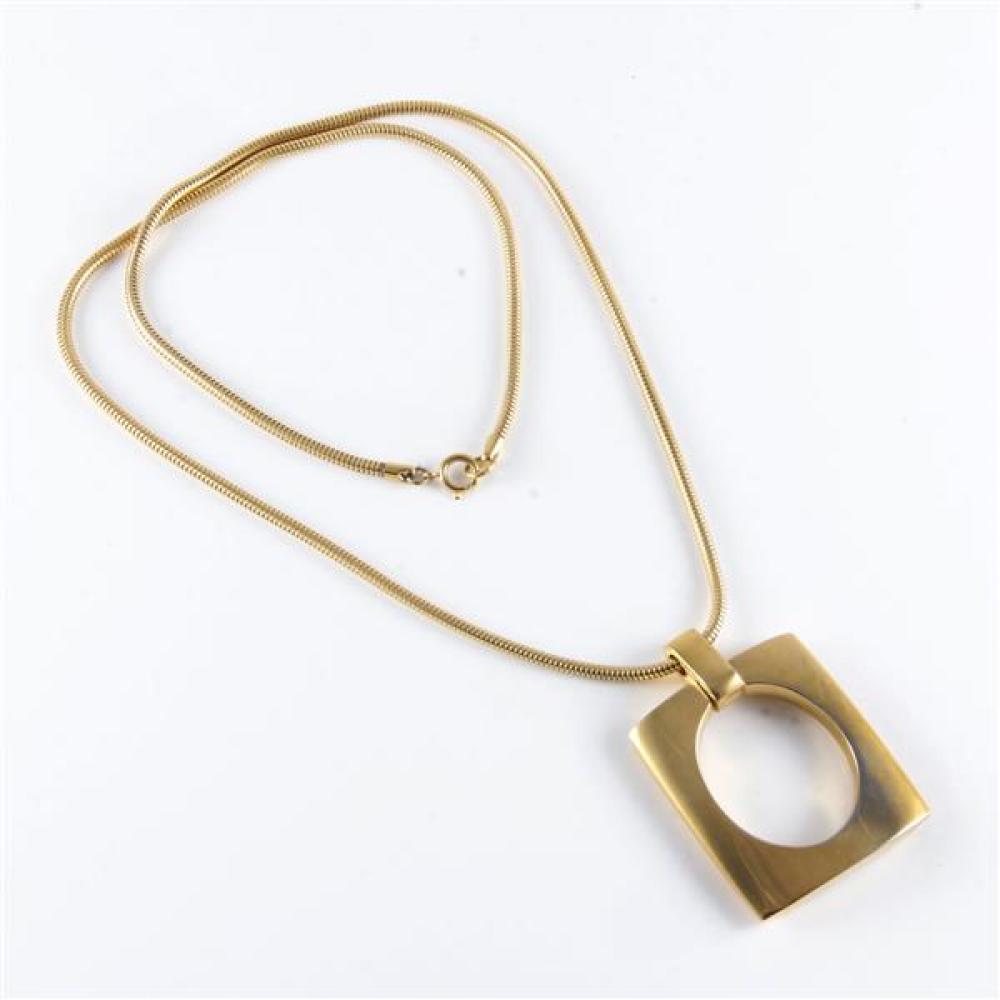 1960s Vintage Jewellery Gold Tone pendant necklace
