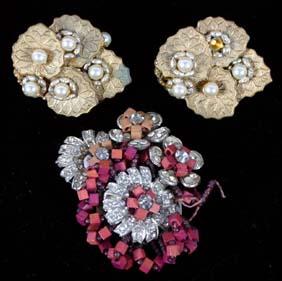 Lot 3 pc. Miriam Haskell Costume Jewelry