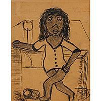 "Albert Wagner, (African American; 1924 - 2006), 13.5"" x 10.5"" (image)"