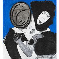 "Albert Wagner, (African American; 1924 - 2006), 14.5"" x 13.25"" (image). 30"" x 24"" (original frame)."