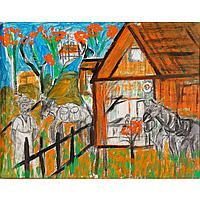 "Albert Wagner, (African American; 1924 - 2006), 21.5"" x 27.5"" (image). 24"" x 29.75"" (original frame)."
