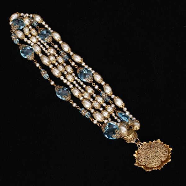 Miriam Haskell 3pc. Necklace, Bracelet, & Clip on Earrings