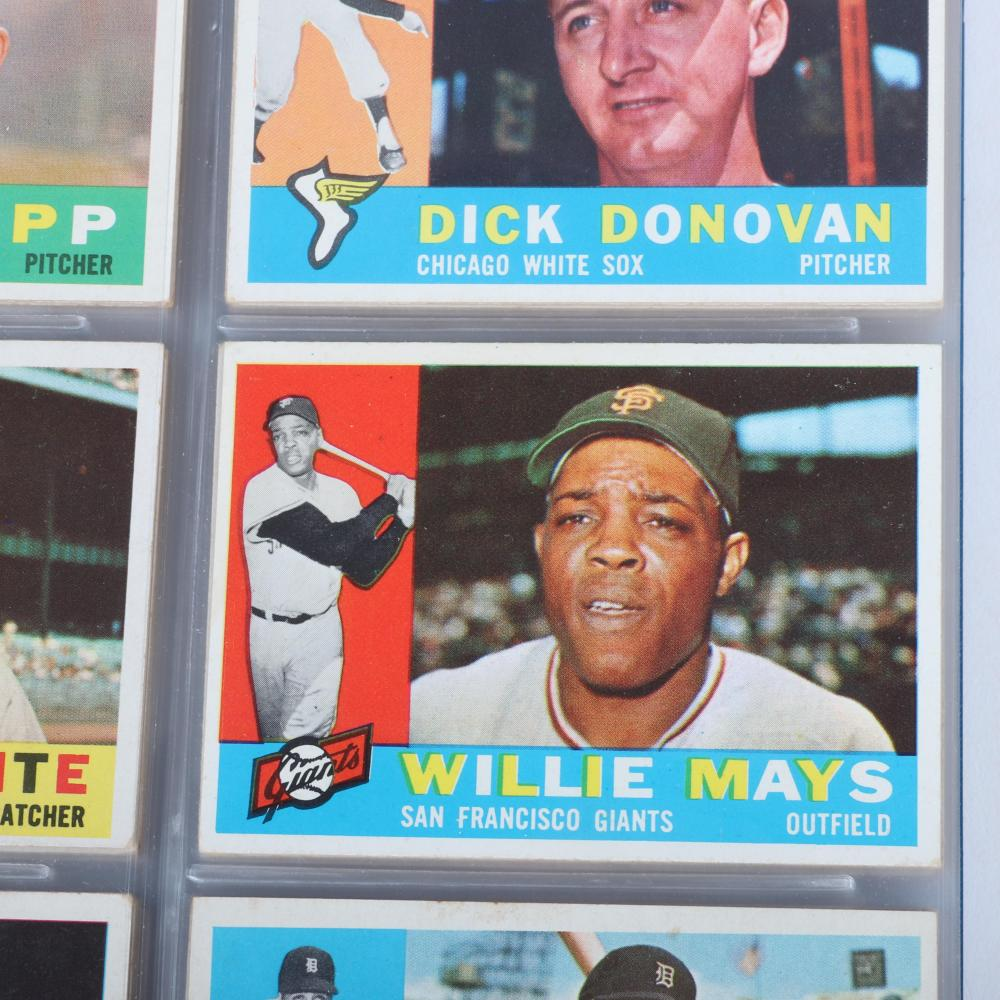 1960 Topps Baseball Card Complete 572 Card Set EX-MT