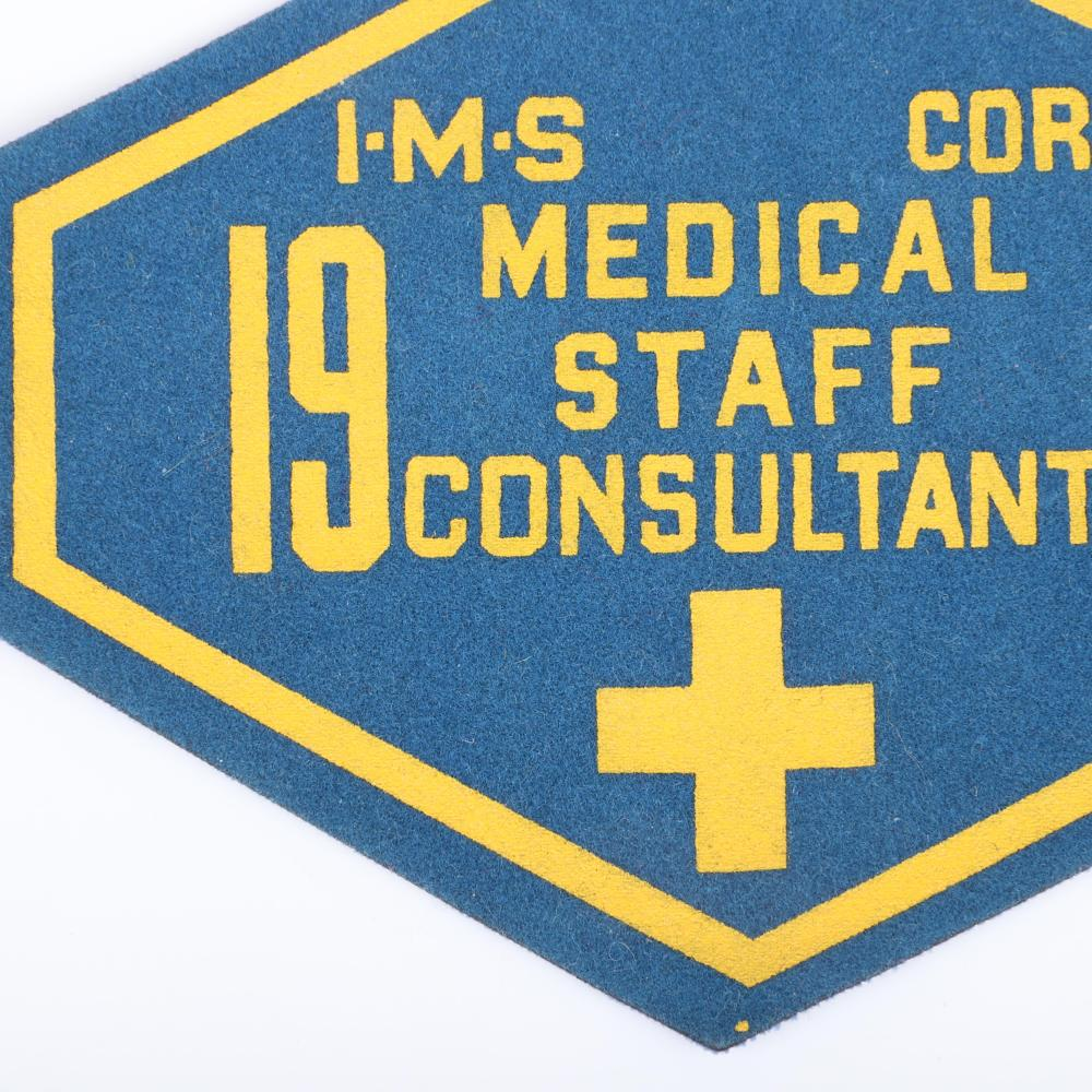 1967 Indianapolis Motor Speedway Medical Staff Armband
