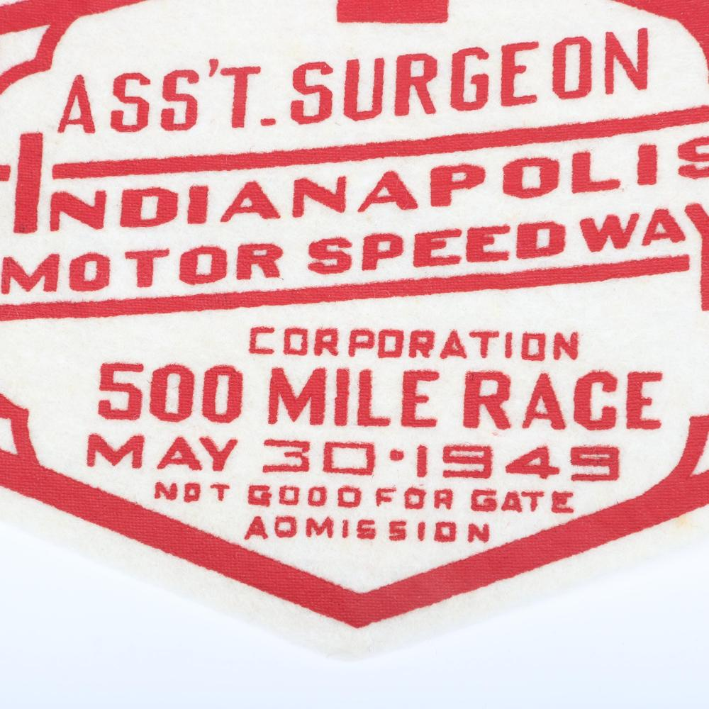Rare 1949 Indianapolis 500 Assistant Surgeon Armband