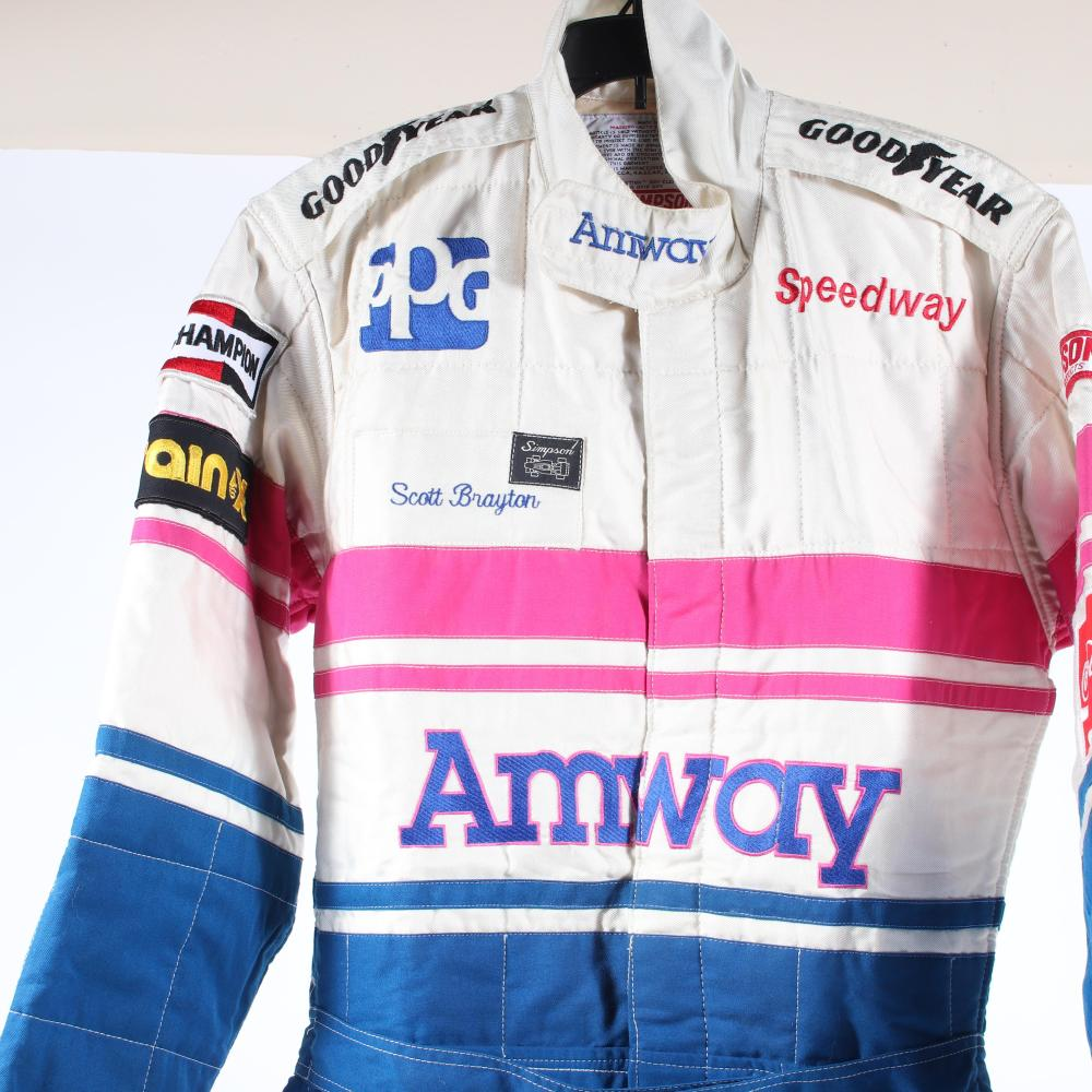 Scott Brayton Race Worn Amway Suit.