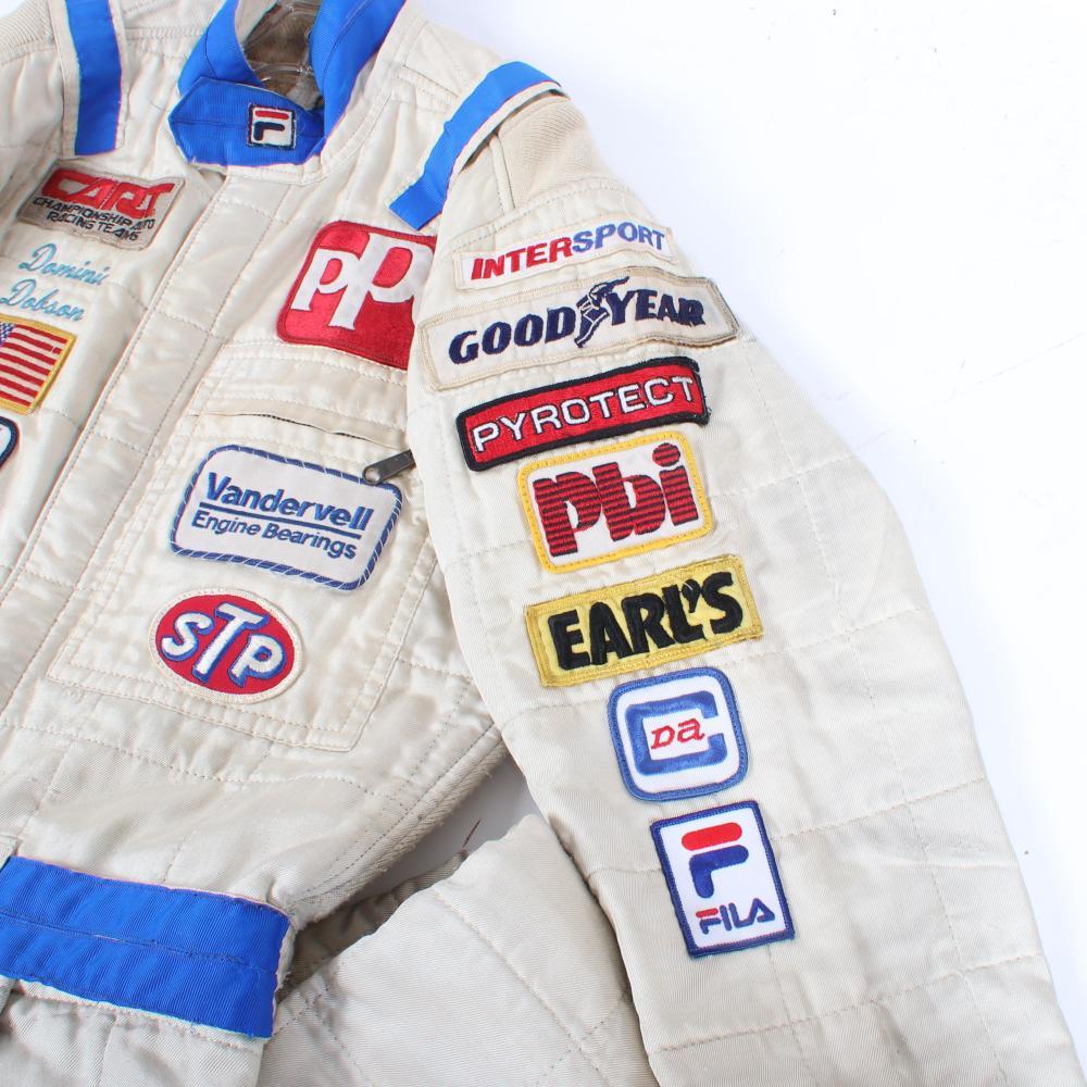 1987 Dominic Dobson Indy Car Race Worn Suit.