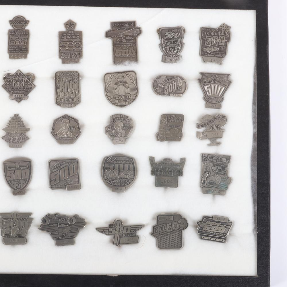 1947-2018 Indianapolis 500 Pit Badge Collection.