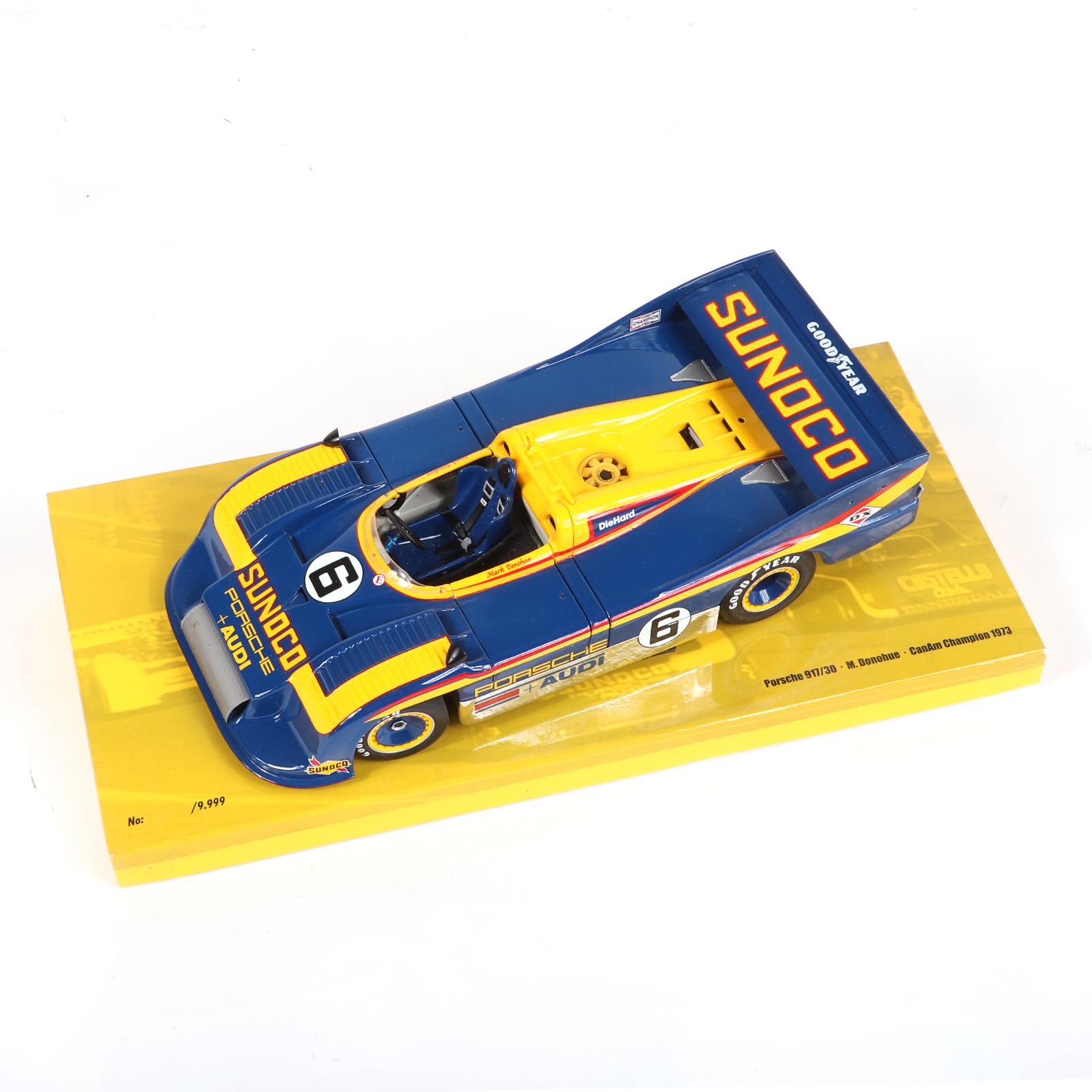 1973 Mark Donohue Sunoco Can AM Minichamps 1:18 Diecast Car in original box.