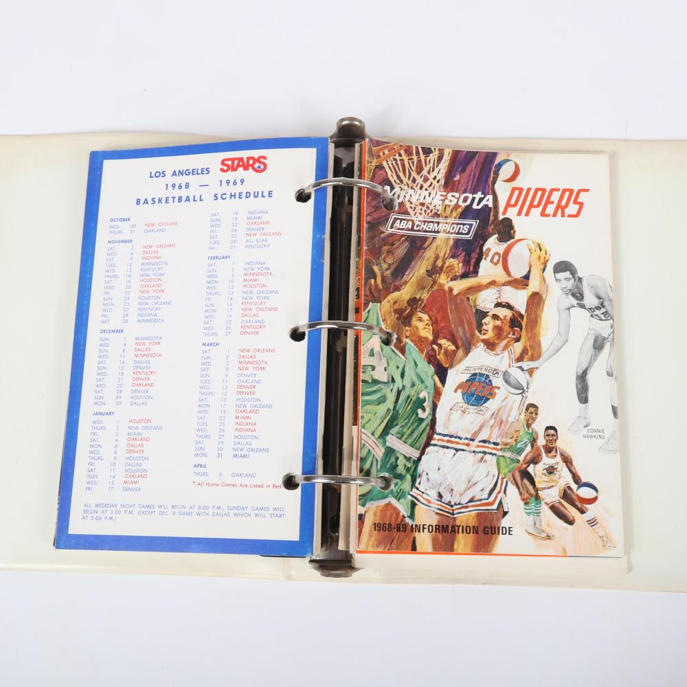 1968-69 ABA Media Guides and Binder