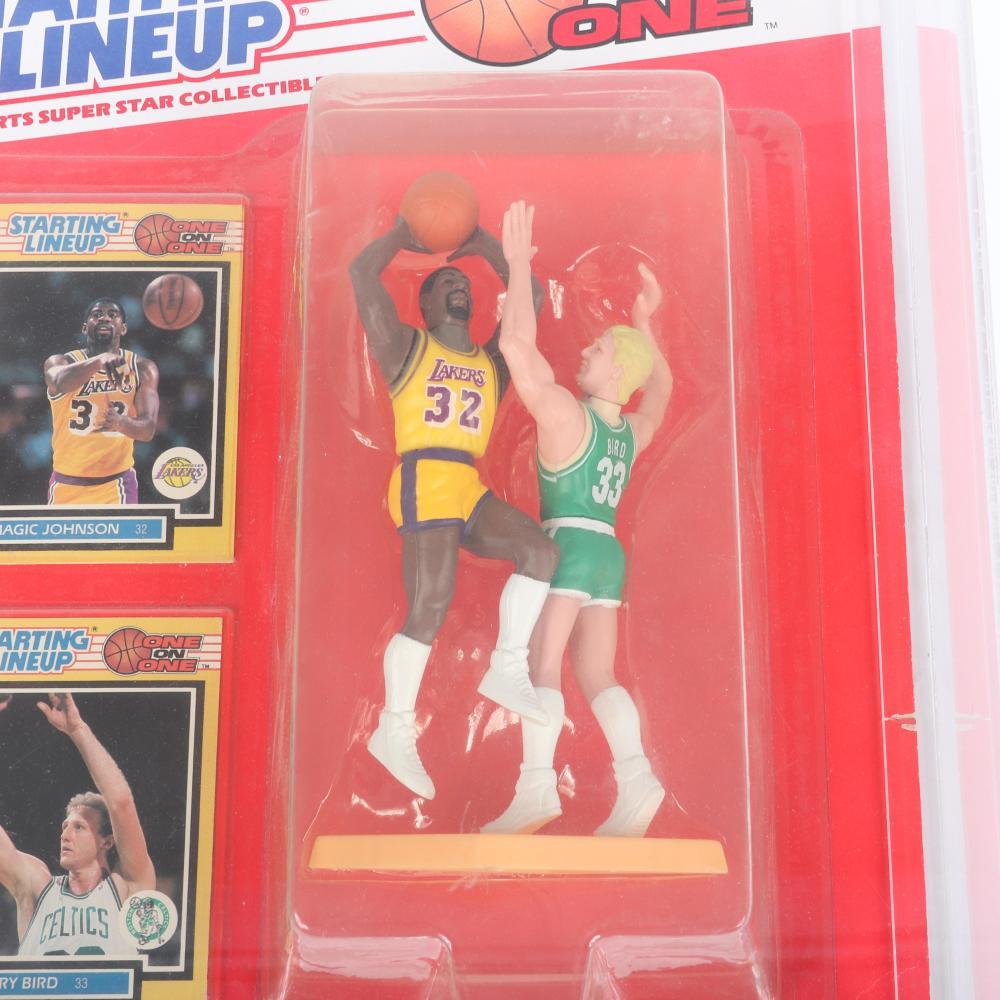 1989 Magic Johnson vs Larry Bird Starting Lineup One on One figurine.