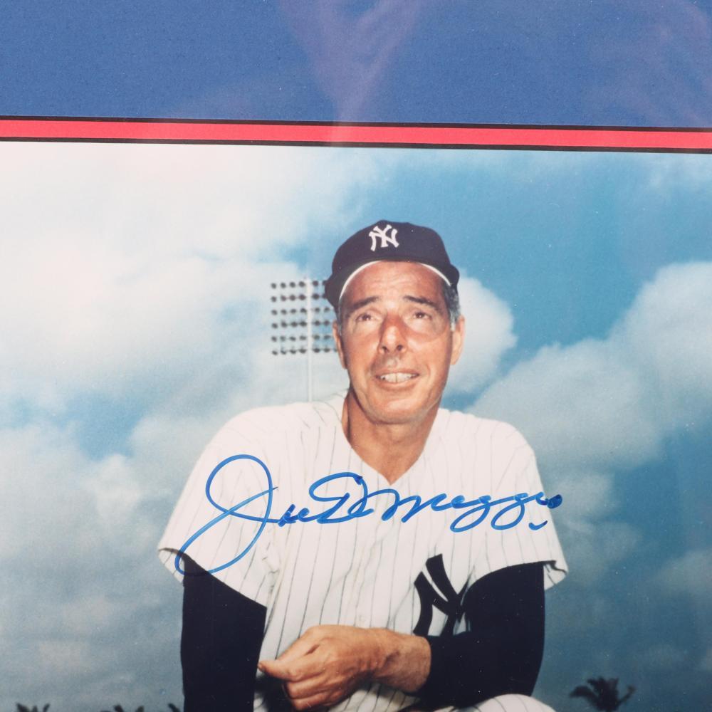 Joe Dimaggio Autographed & Framed Photo