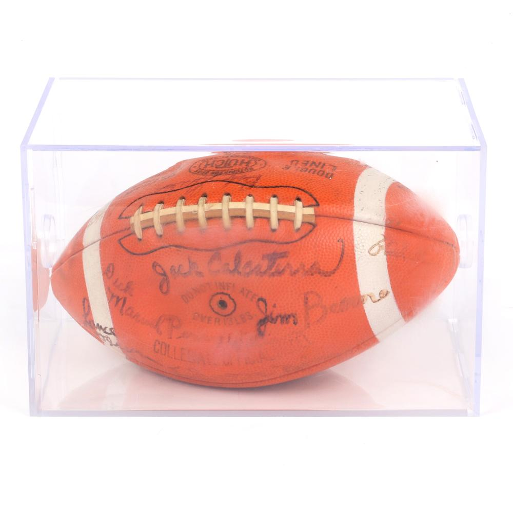 1967 Purdue University Rose Bowl Team Signed Football