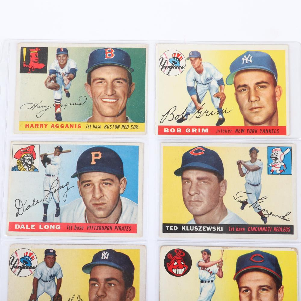 Lot of 9 - 1955 Topps Baseball Cards
