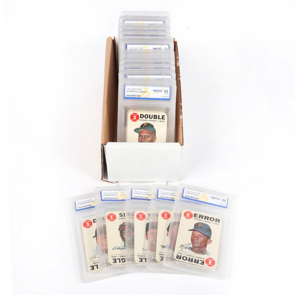 1968 Topps Game Card Complete 33 Card Set, WGC Graded