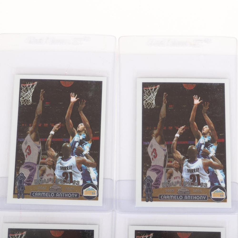 4 Carmelo Anthony Topps Chrome Rookie Cards #113.