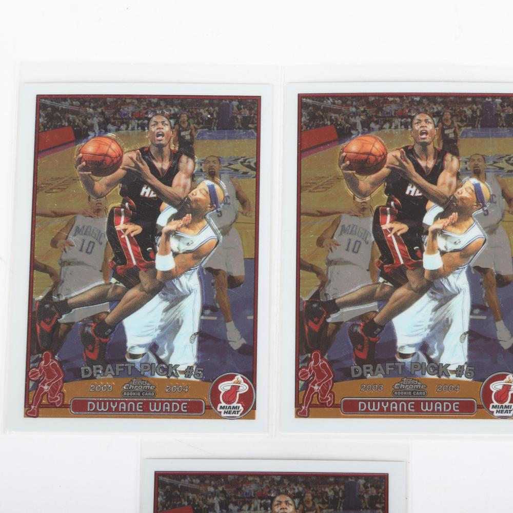 3 Dwyane Wade 2003-04 Topps Chrome Rookie Cards #115.