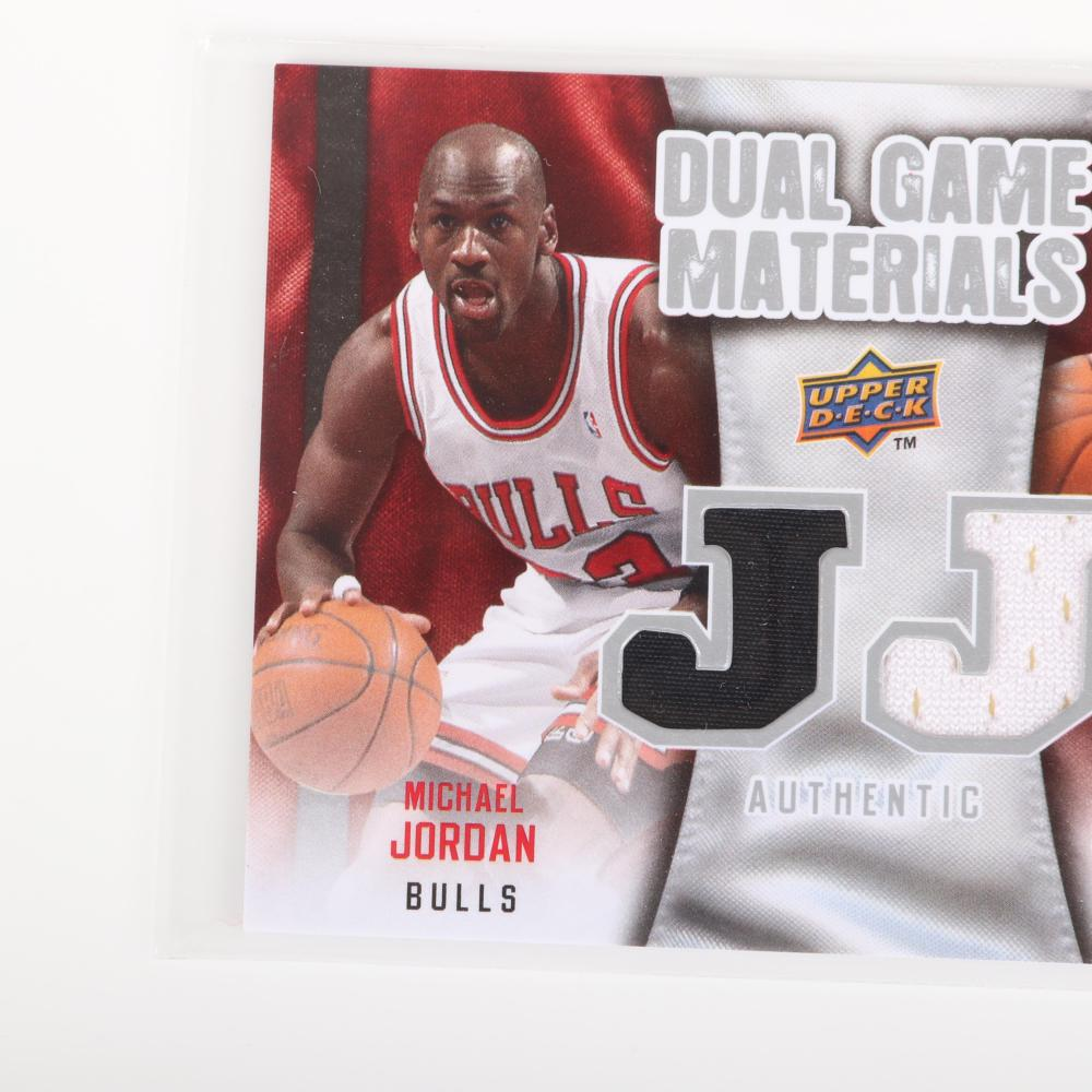 2009-10 Upper Deck. Michael Jordan Lebron James Dual Game Materials Card #DG-ML