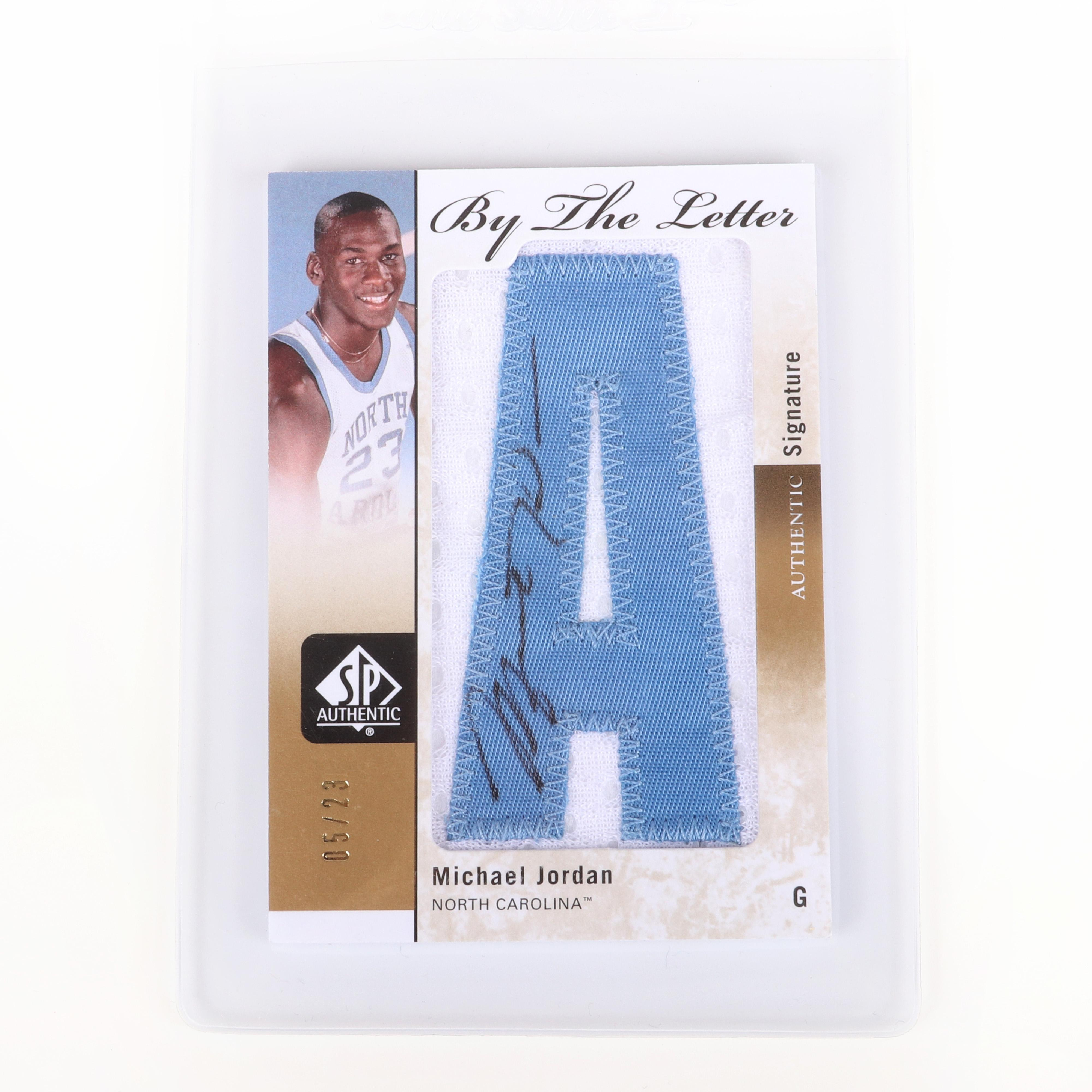 2011-12 SP Authentic Michael Jordan Autographed Patch Card #BL-MJ
