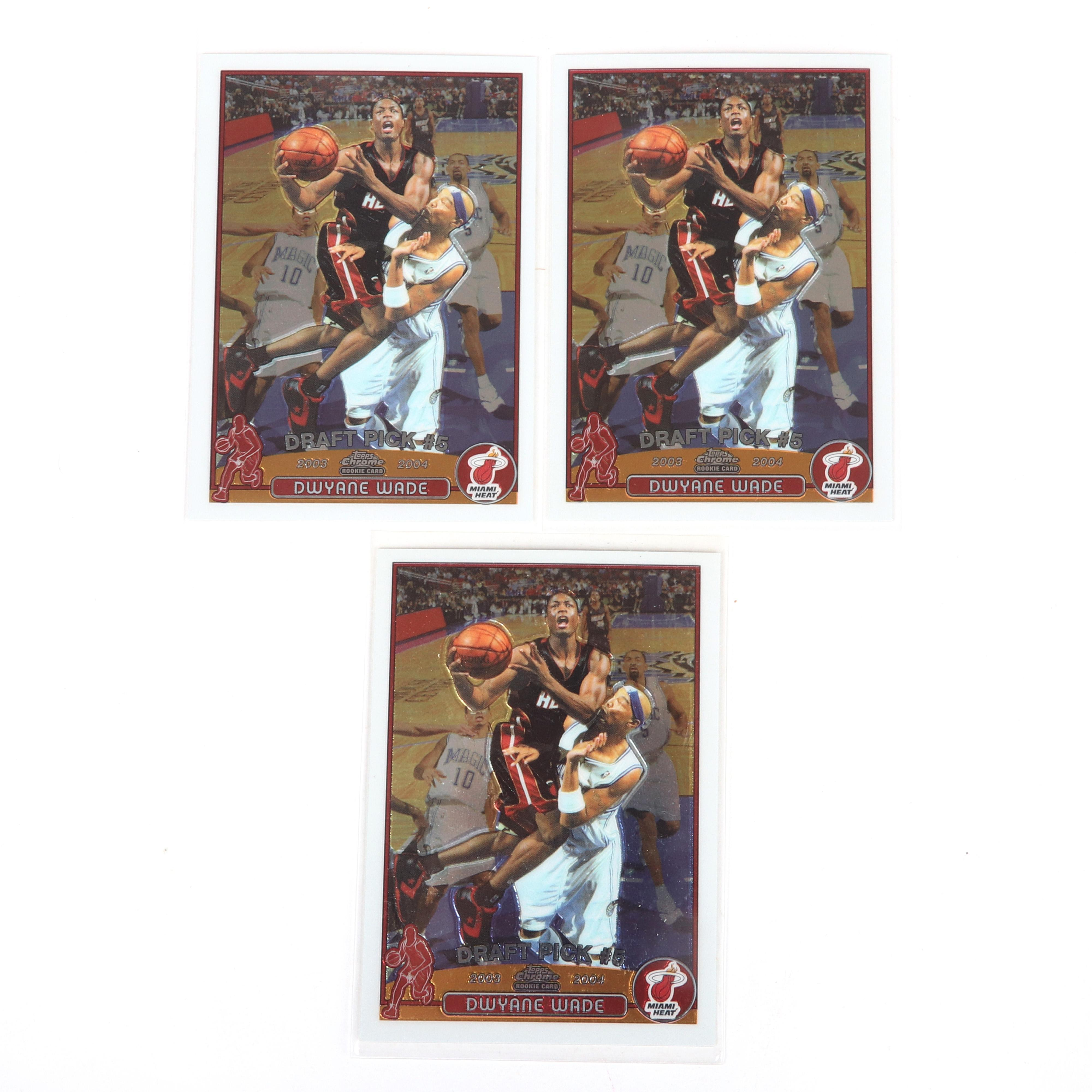 3 Dwyane Wade 2003-04 Topps Chrome Rookie Cards #115