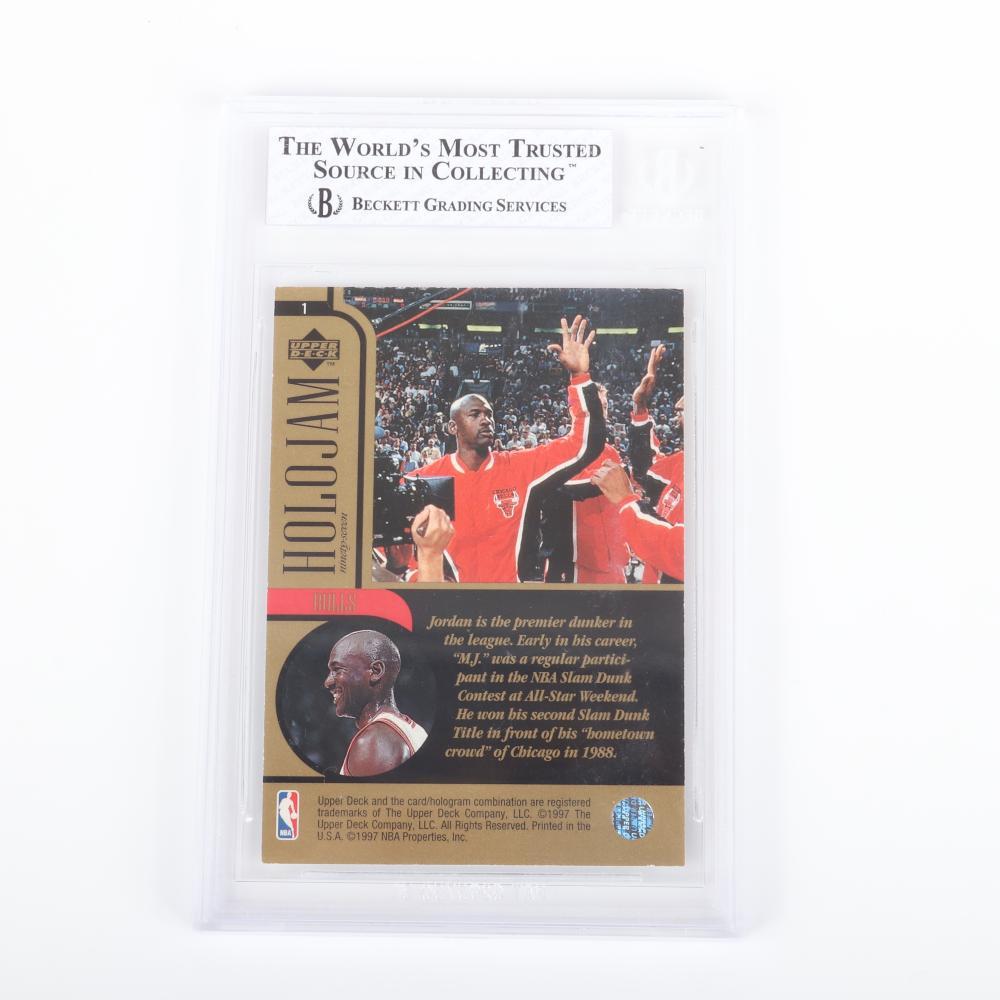 1997 Upper Deck Michael Jordan Holojams card #1 BGS 7.5
