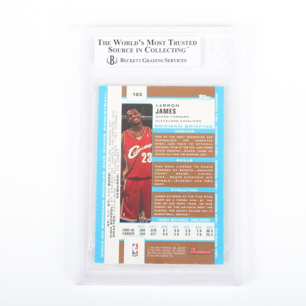 2003-04 Lebron James Bowman Gold Rookie Card # 123 BGS 7.5