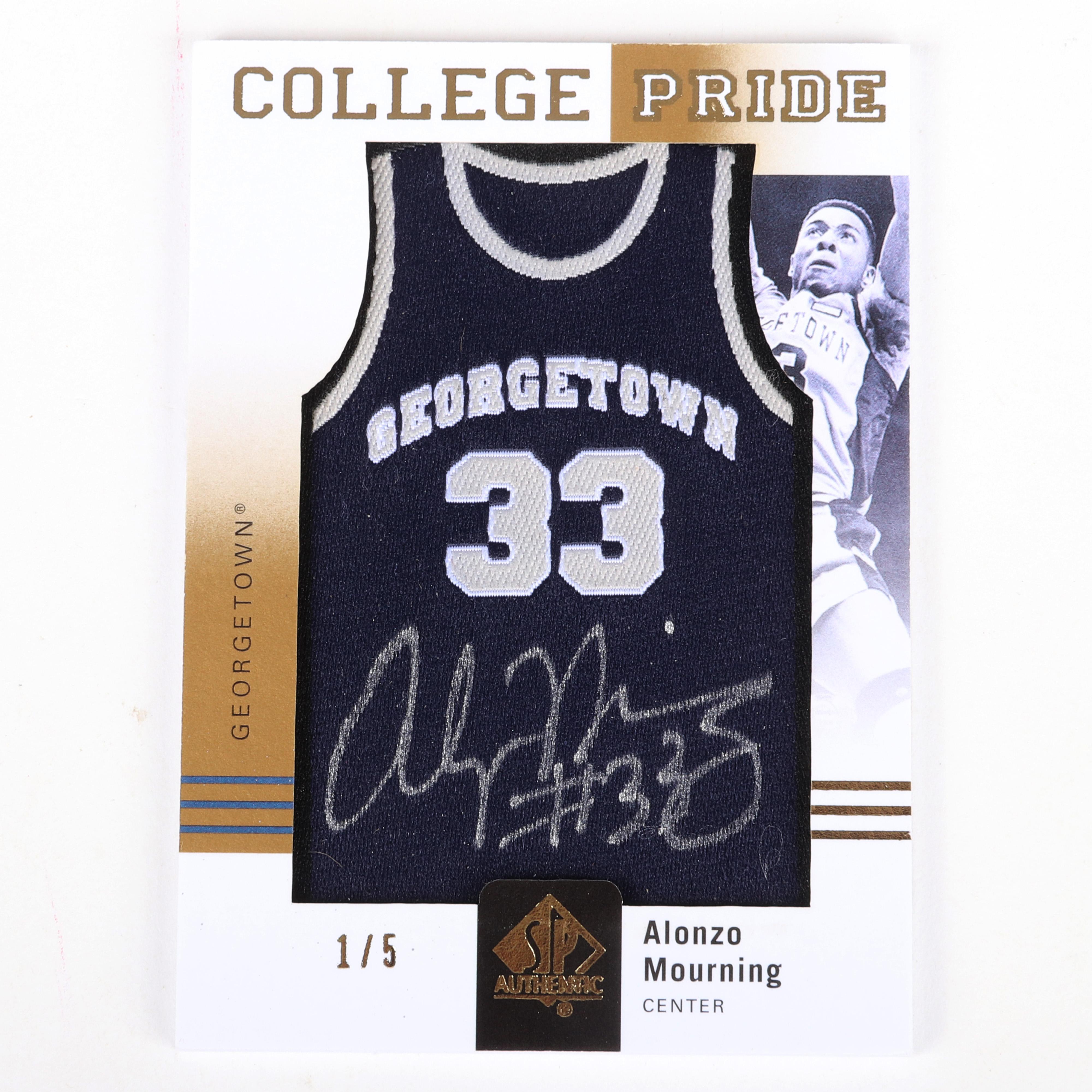 2011-12 Alonzo Mourning SP College Pride Autograph Card #CJ-AM 1/5