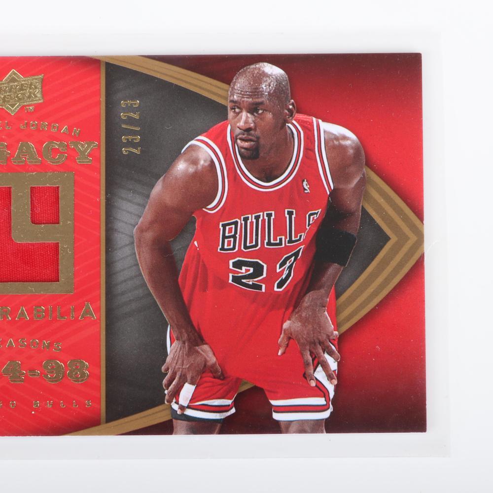 2008-09 Michael Jordan Legacy Game Used Card #MJ-33 numbered 23/23.