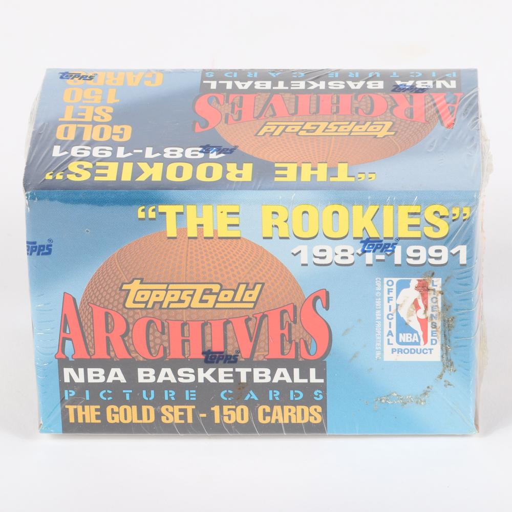 1981-1991 The Rookies Topps Gold NBA Basketball set.