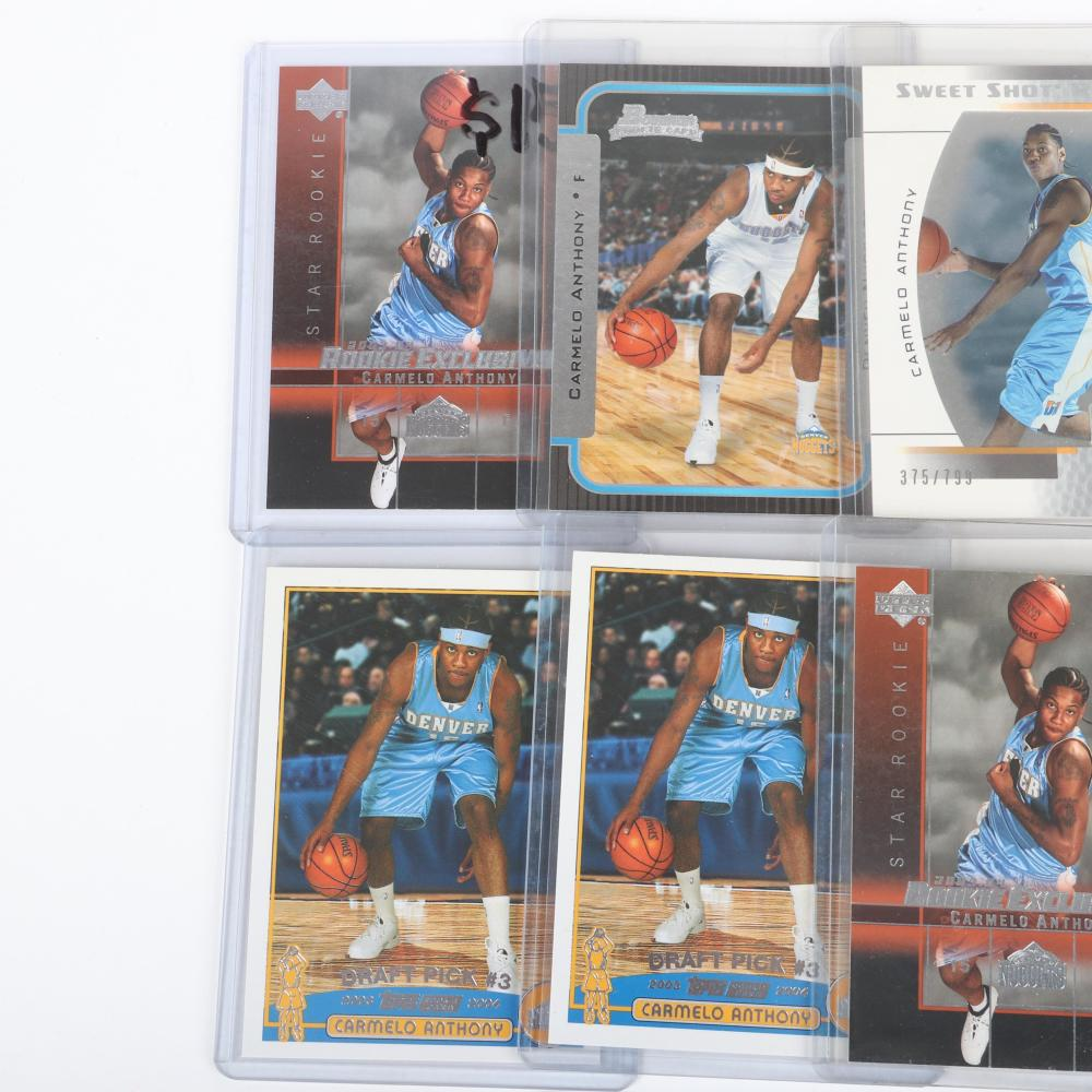 Lot of 7 Carmelo Anthony 2003-04 Rookie Cards