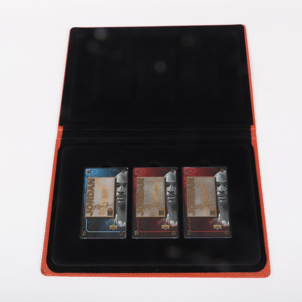 Michael Jordan 24k Gold Collectible 3 Card Set in Binder.