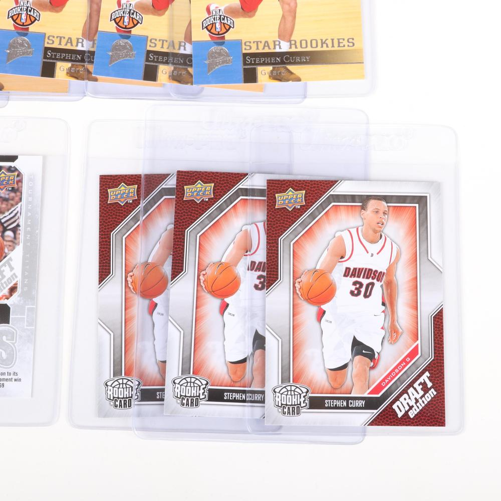 Lot of 6 Steph Curry 2009-10 Rookie Cards