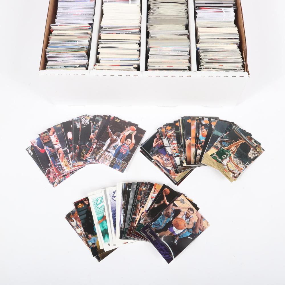 3200 Count Box of Basketball Cards