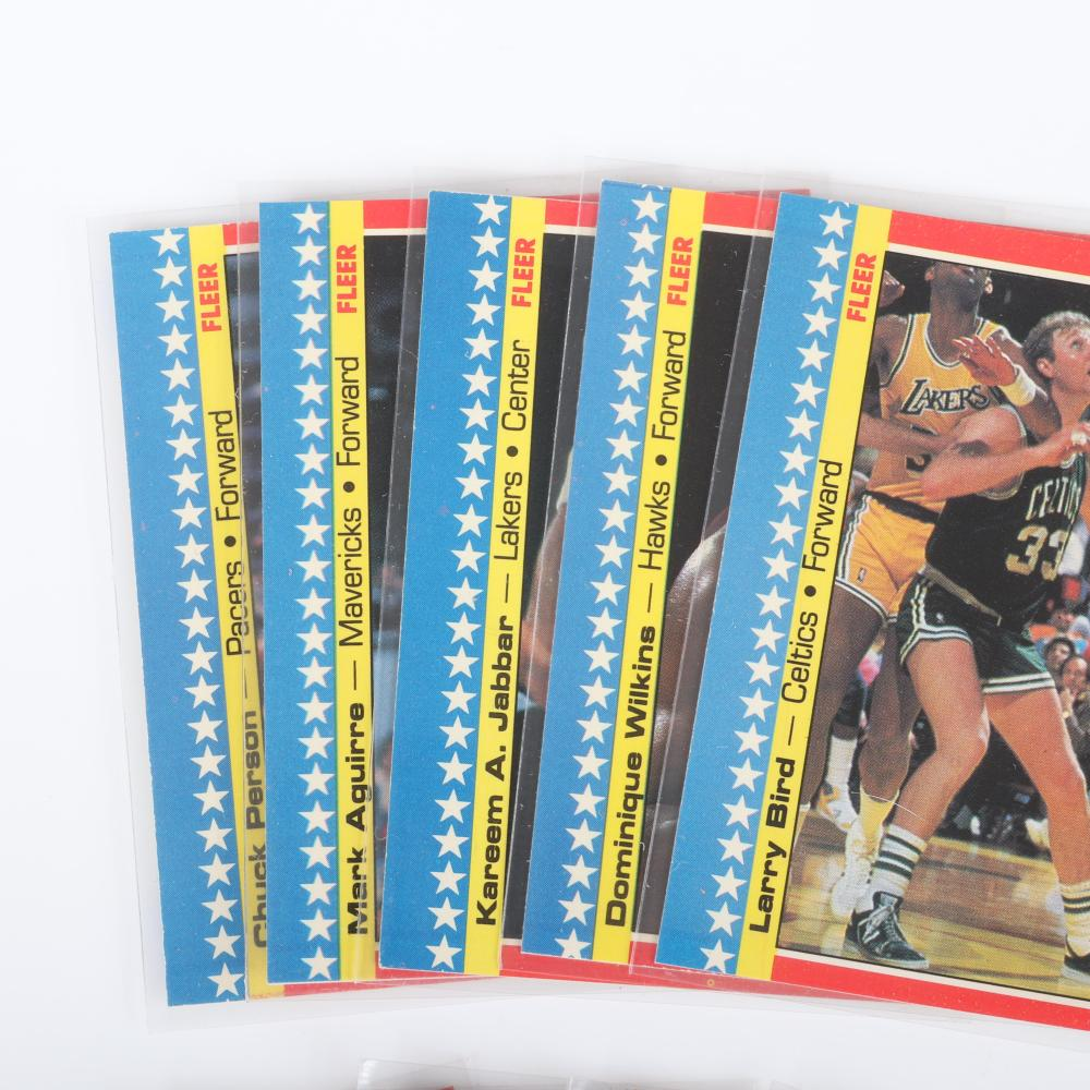 1987-88 Fleer Basketball Sticker Set.