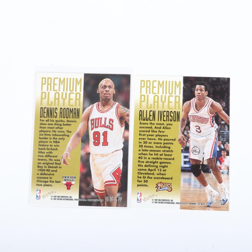 1997-98 Skybox Dennis Rodman & Allen Iverson Premium Player Inserts