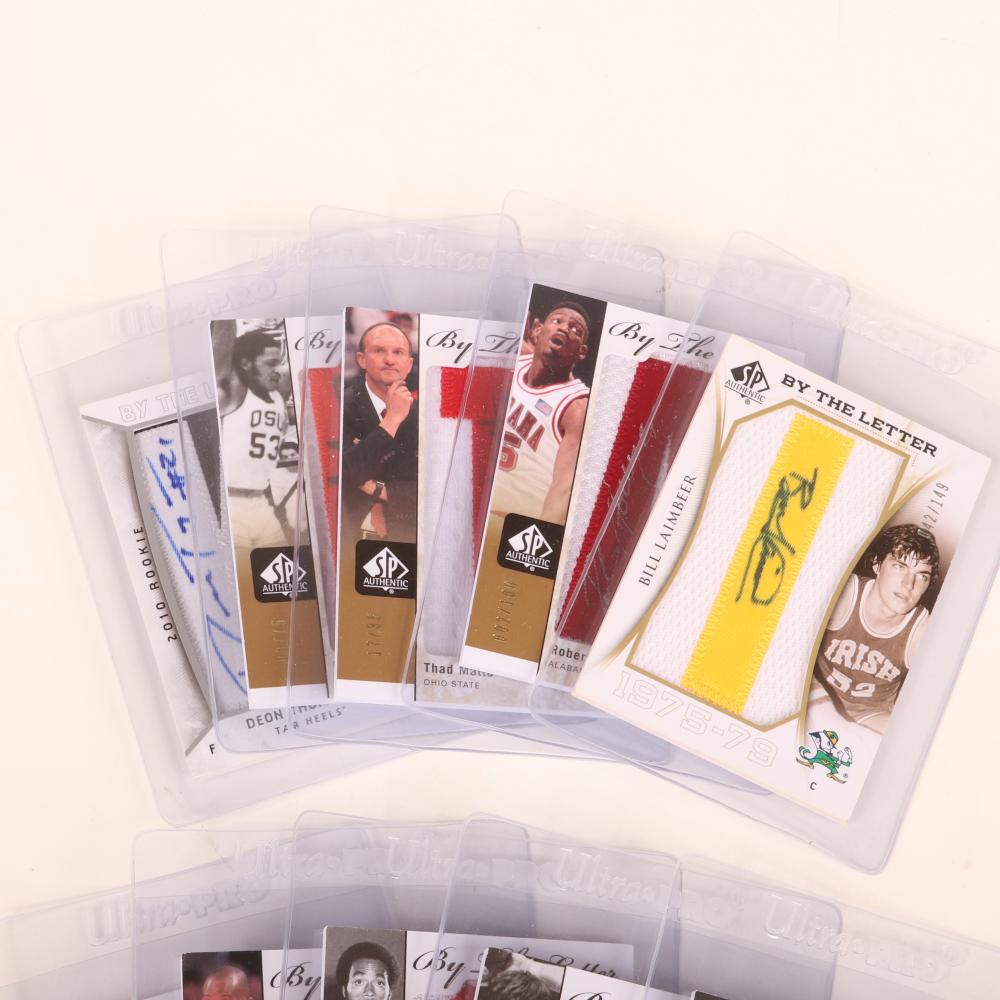 10 Autographed SP By The Letter Numbered Autograph Cards
