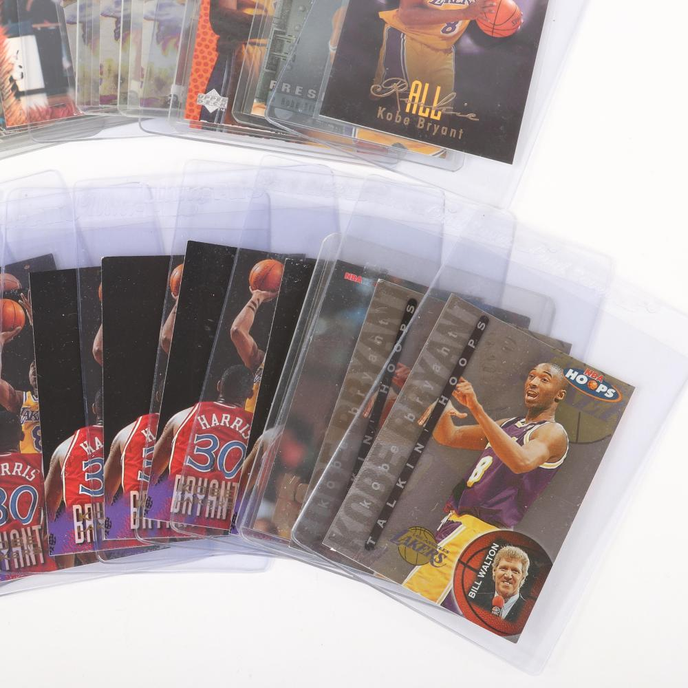 Lot of 20 Kobe Bryant 1996-97 Rookie Basketball Cards