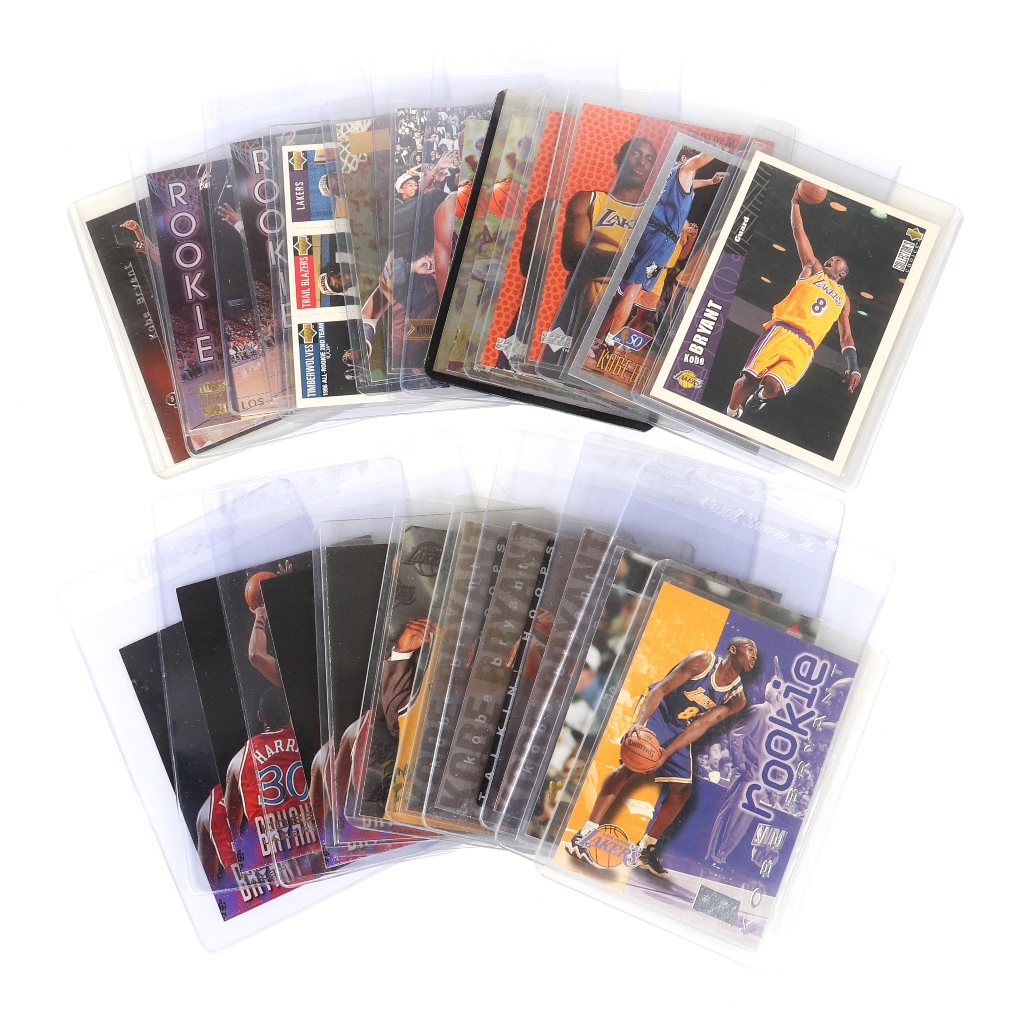 Lot of 21 Kobe Bryant 1996-97 Rookie Cards