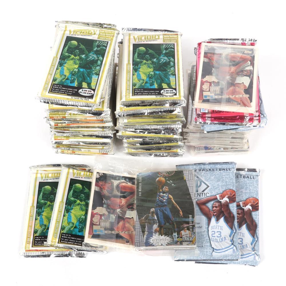 48 Packs of Unopened NBA Basketball Cards 1995-2011