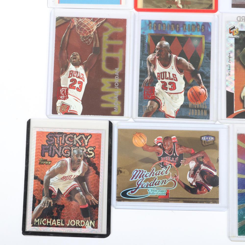 Lot of 9 1995-1999 Michael Jordan Cards