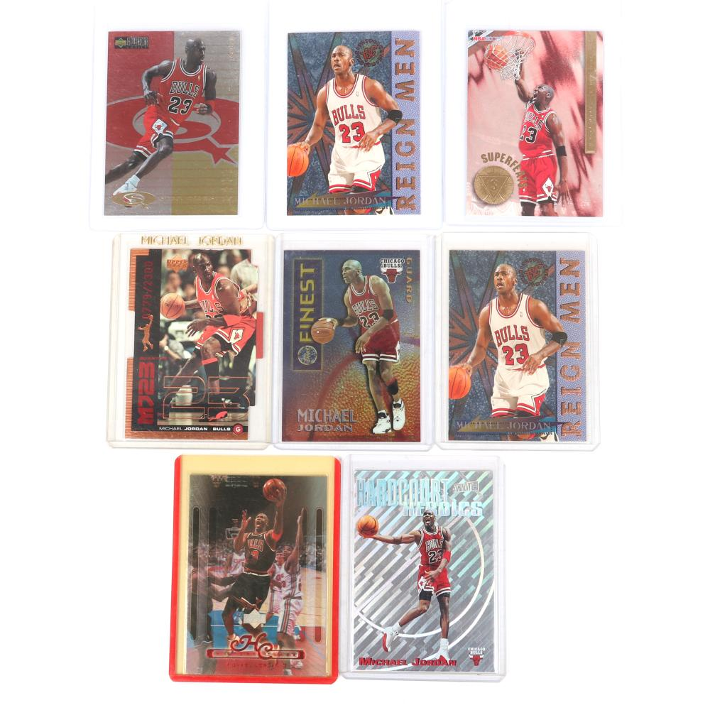 Lot of 8 1995-99 Michael Jordan Cards